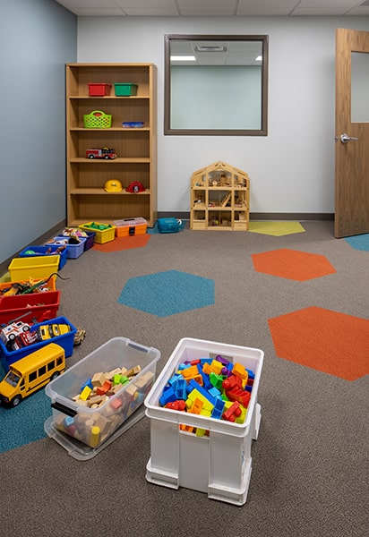 Children's observation play room at Valley Christian Counseling Center