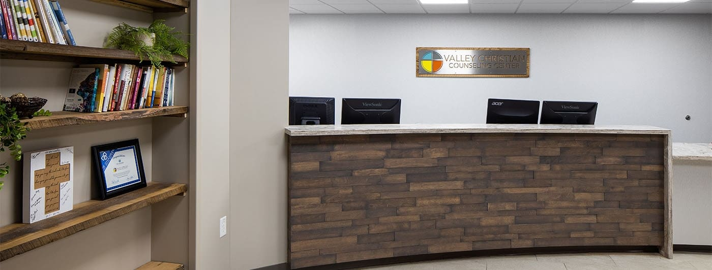Front desk at Valley Christian Counseling Center